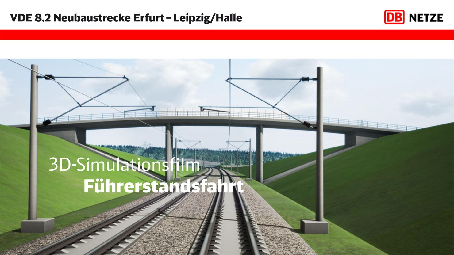 Link zu Filmen/3D-Animationen ICE-Strecke Erfurt–Leipzig/Halle